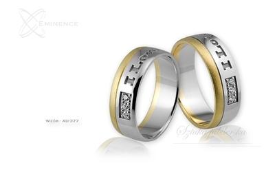 Obrączki ślubne - wzór au-377
