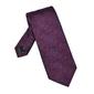 Bordowy jedwabny krawat w turecki wzór długi