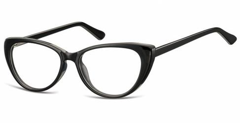 Oprawki korekcyjne kocie oczy zerówki sunoptic cp138 czarne