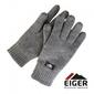 Rękawiczki ocieplane eiger knitted glove whit 3m thinsulate lining grey roz. s