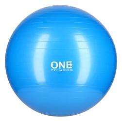 Piłka gimnastyczna gym ball 10 55 cm niebieska - one fitness - 55 cm