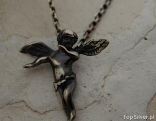 Angel - srebrny wisiorek anioła