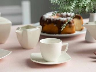 Filiżanka do kawy ze spodkiem porcelana karolina hiruni 200 ml