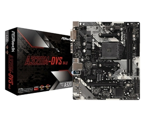 ASRock Płyta główna A320M-DVS R4.0 AM4 2DDR4 DSUBDVI uATX