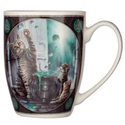 Hubble bubble kot i kocięta - porcelanowy kubek z nadrukiem projekt: lisa parker