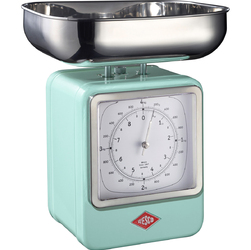 Waga retro kuchenna z zegarem turkusowa Wesco 322204-51