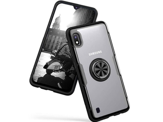 Etui alogy ring holder clear armor do samsung galaxy a10 czarne + szkło alogy