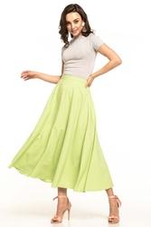 Jasnozielona midi spódnica z koła