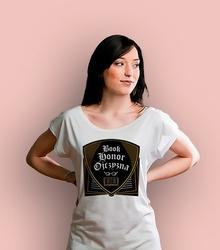 Book honor ojczyzna ml t-shirt damski biały xs