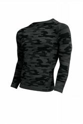 Sesto senso thermo active military style długi rękaw grafit koszulka męska
