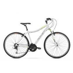 Rower crossowy romet orkan 2d 2021, kolor biały-zielony, rozmiar 17