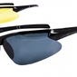 Sportowe okulary z dwoma soczewkami polaryzacyjnymi czarna i zolta - drs-51c1