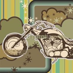 Obraz na płótnie canvas dwuczęściowy dyptyk tło motocykla chopper