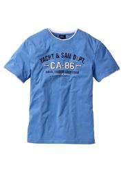 T-shirt 2 w 1, krótki rękaw bonprix błękitny