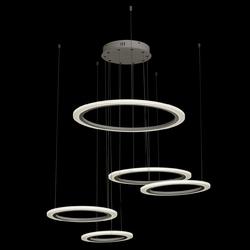 Luksusowa lampa wisząca 5 pierścieni led na regulowanych przewodach regenbogen 661014305