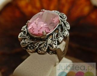 Castellon - srebrny pierścień z cyrkonią