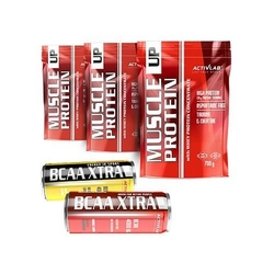 Activlab muscle up protein -3x 700 g 2100 g + bcaa xtra drink 250 ml + bcaa xtra drink energy 250 ml