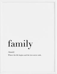 Plakat Family 21 x 30 cm
