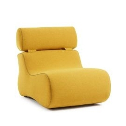 Tapicerowany fotel club 79x105 cm żółty