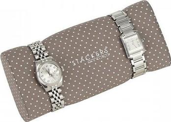 Poduszka na zegarki stackers beżowa w kropki