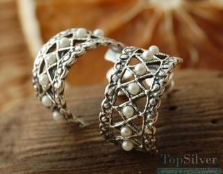Pina - srebrne kolczyki z perłami