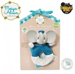 Meiya  alvin - alvin elephant soft rattle with organic teether head
