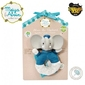 Meiya  alvin - alvin elephant soft rattle with organic teether head