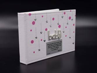 Album baby róż pamiątka chrzest roczek Dedykacja - Różowy