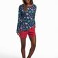 Piżama damska cornette 159202 flamingo 4 dłr s-2xl