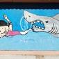 Fototapeta graffiti rekin i dziewczyna fp 1310