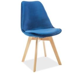 Krzesło welurowe magnus granatowe