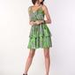 Codzienna sukienka na ramiączkach liście