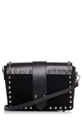 Czarna niewielka torebka z ozdobnymi nitami
