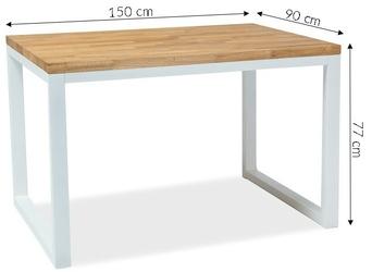 Stół dee x 2 150x90 cm loft dąb