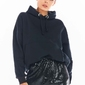 Spódniczka mini na gumce z cekinami - czarna