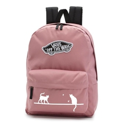 Plecak szkolny vans realm nostalgia rose - vn0a3ui6uxq - custom cats