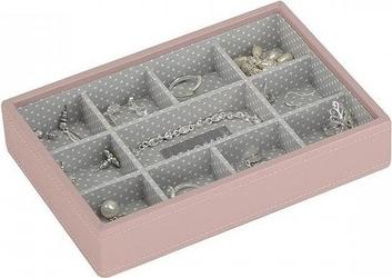 Szkatułka na biżuterię stackers 11 komorowa mini różowa