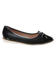 Pantofelek24.pl | komfortowe czarne balerinki z kokardą
