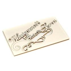 Dekoracyjny napis - Wdzięczność jest pamięcią serc