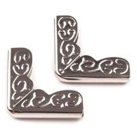 Ornamentowe narożniki metalowe 10 szt.