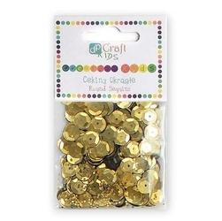 Cekiny okrągłe 10 g - złote - zło
