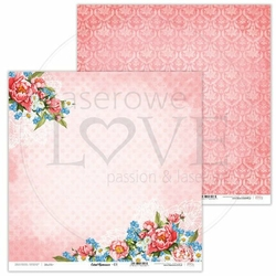 Papier do scrapbookingu Coral Romance 30,5x30,5 cm - 01 - 01