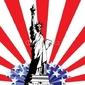 Obraz na płótnie canvas czteroczęściowy tetraptyk statua wolności
