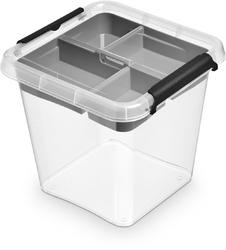 Pojemnik do przechowywania z organizerem orplast simple store 4 l