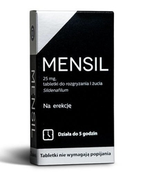 Mensil 25mg tabletki do rozgryzania i żucia x 4 sztuki - 4 tabletki