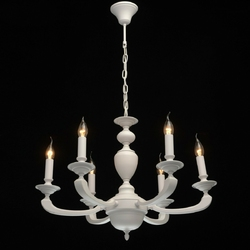 Ponadczasowy, sześcioramienny żyrandol mw-light neoclassic 700011606