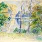 Reprodukcja view of a park, auguste renoir