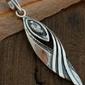 Bebel - srebrny wisiorek z kryształem swarovskiego