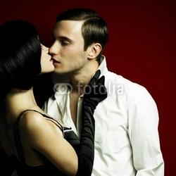 Obraz na płótnie canvas czteroczęściowy tetraptyk mężczyzna i kobieta w seksualnych ubraniach
