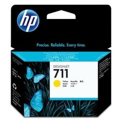 HP oryginalny tusz 711 żółty